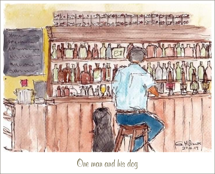 Stuart Ainslie Photography one man and his dog about me page